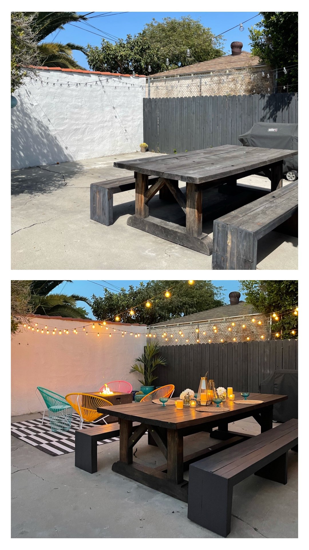 BACKYARD REVAMP REVEAL AND BEFORE PHOTOS