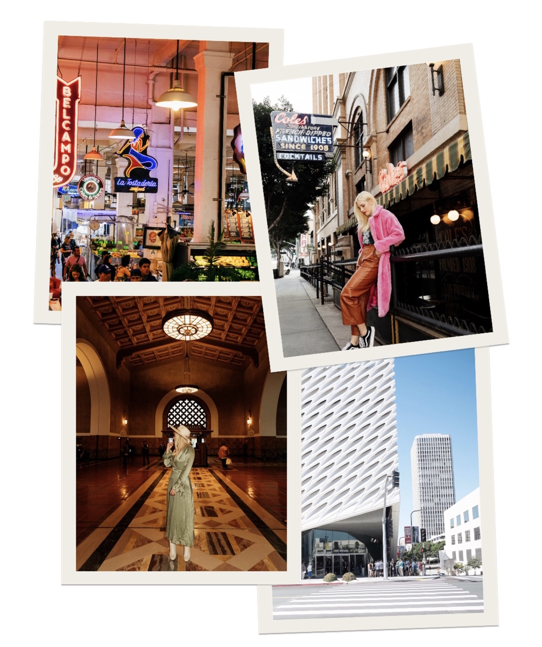 collage of the best places to visit in DTLA