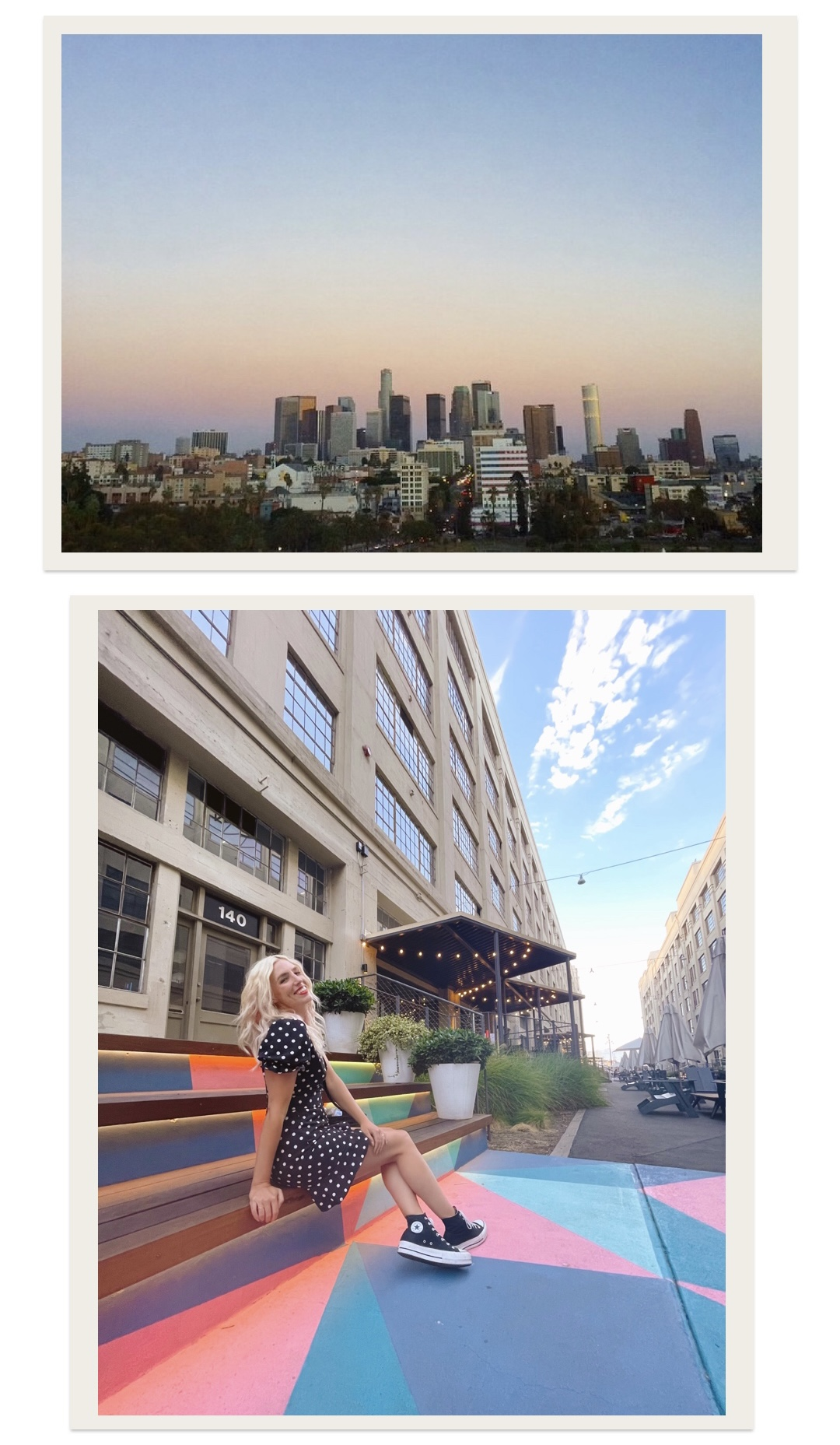 collage of woman showing the best places to visit in DTLA