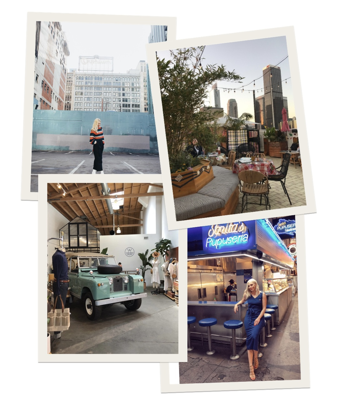collage of woman visiting best places to visit in DTLA