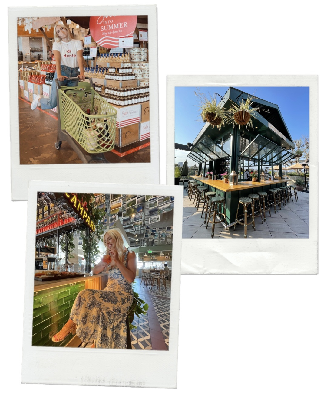 collage of places to vISIT IN LA THIS SUMMER for Eataly LA